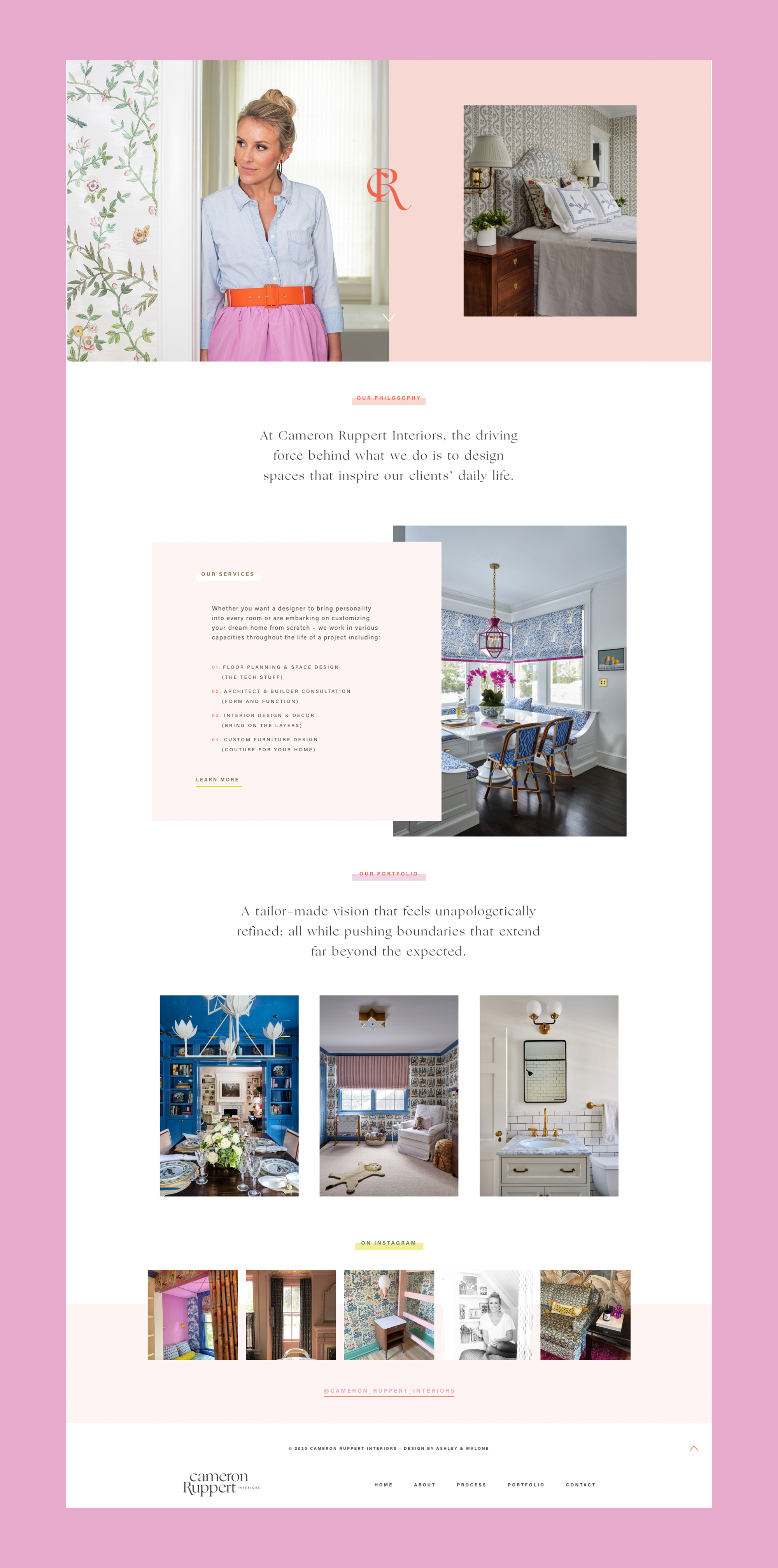 Interior Design Custom WordPress Website